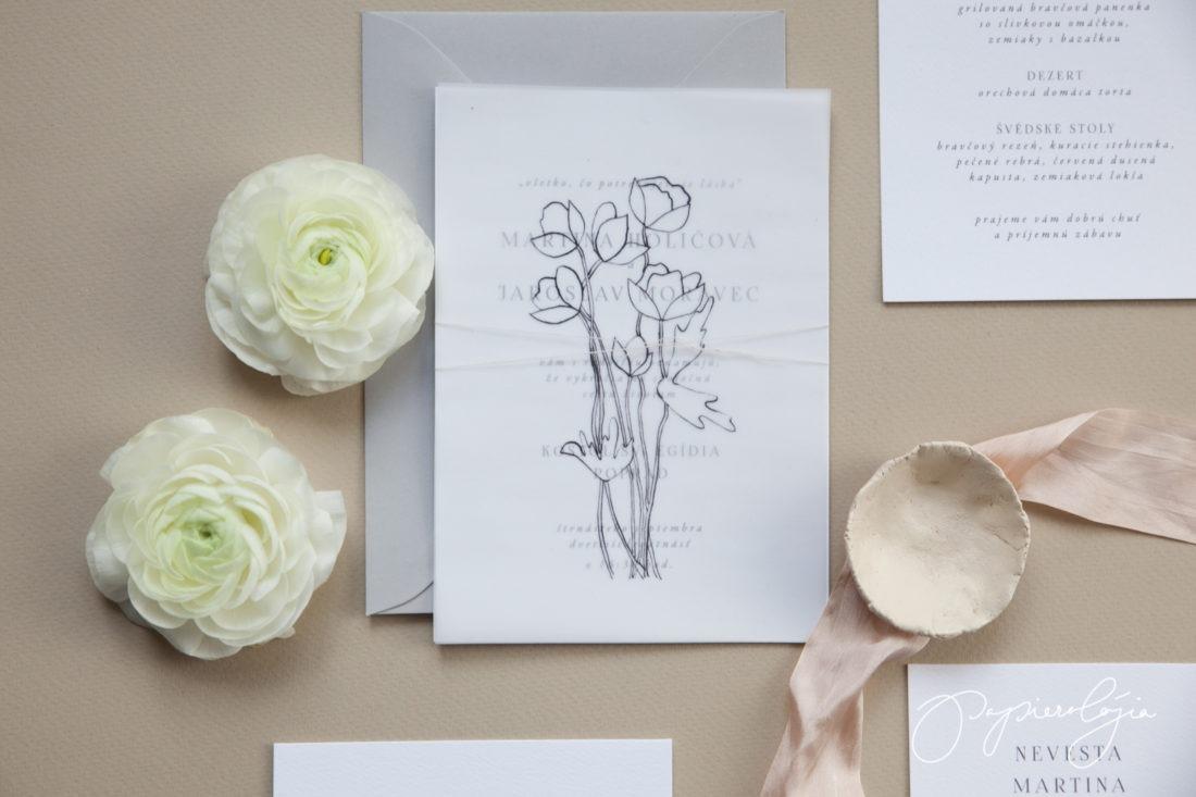 ručne robené svadobné oznámenie